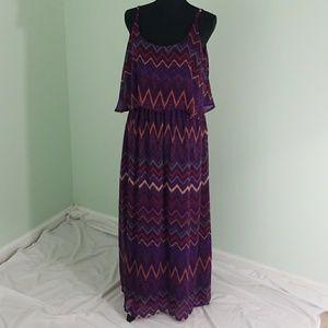 Faded Glory Maxi dress Sz XL Purple